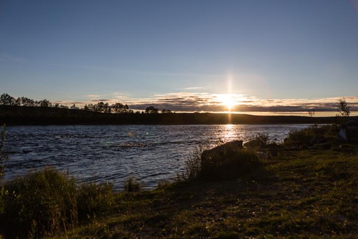 Tenojoki Lappi auringonlasku elokuu Teno Karigasniemi sunset Lappland  (1 of 1)