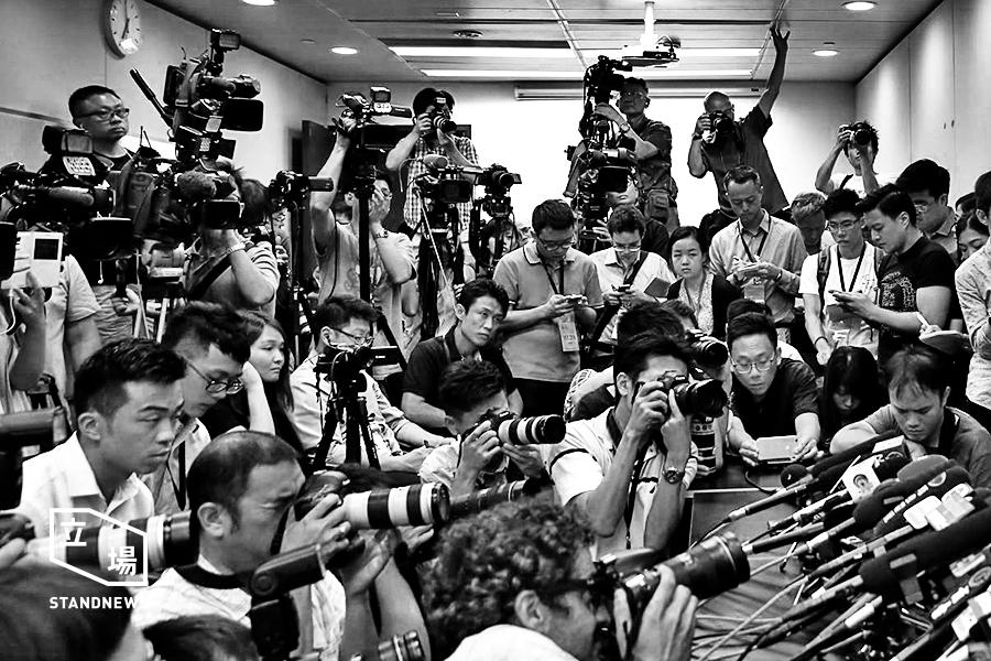 本地各報館、網媒記者採訪(資料圖片)