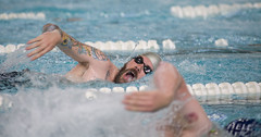 Ryan Shannon of Team Navy competes in the freestyle event.