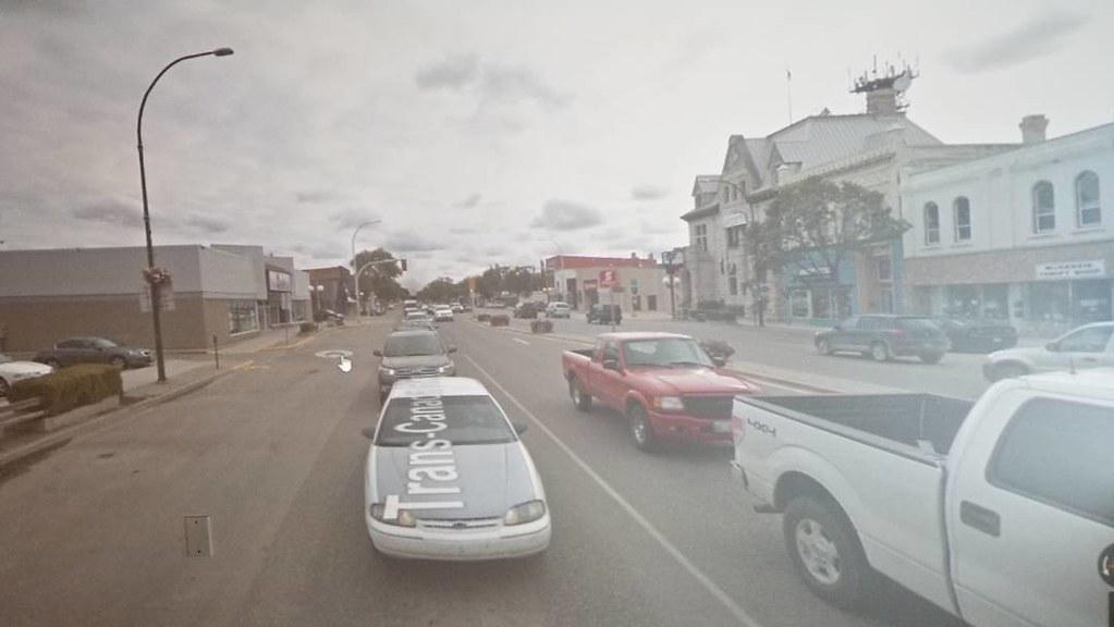 Virtual tagging in Portage la Prairie. #manitoba #ridingthroughwalls #xcanadabikeride #googlestreetview