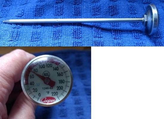 bimetallic stemmed thermometer
