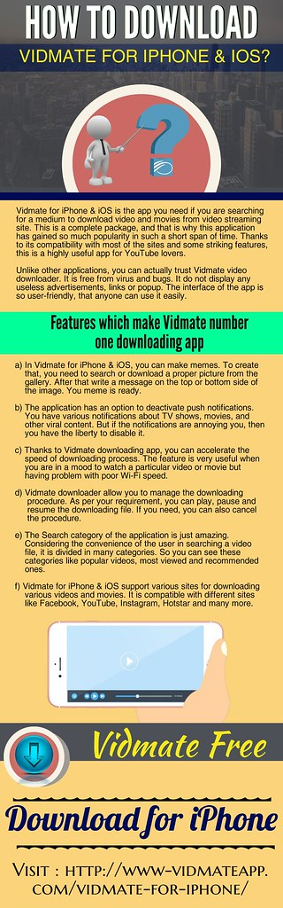 How To Download Vidmate For IPhone & IOS | Visit Here: www-v… | Flickr