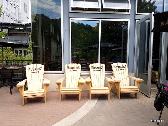 Cafe Belong Muskoka chairs patio