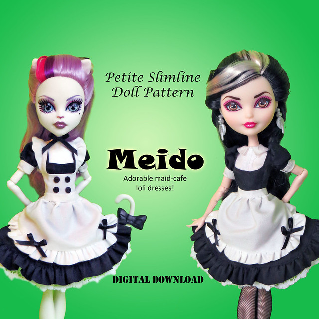 Meido aka Maid Cafe type Lolita uniforms