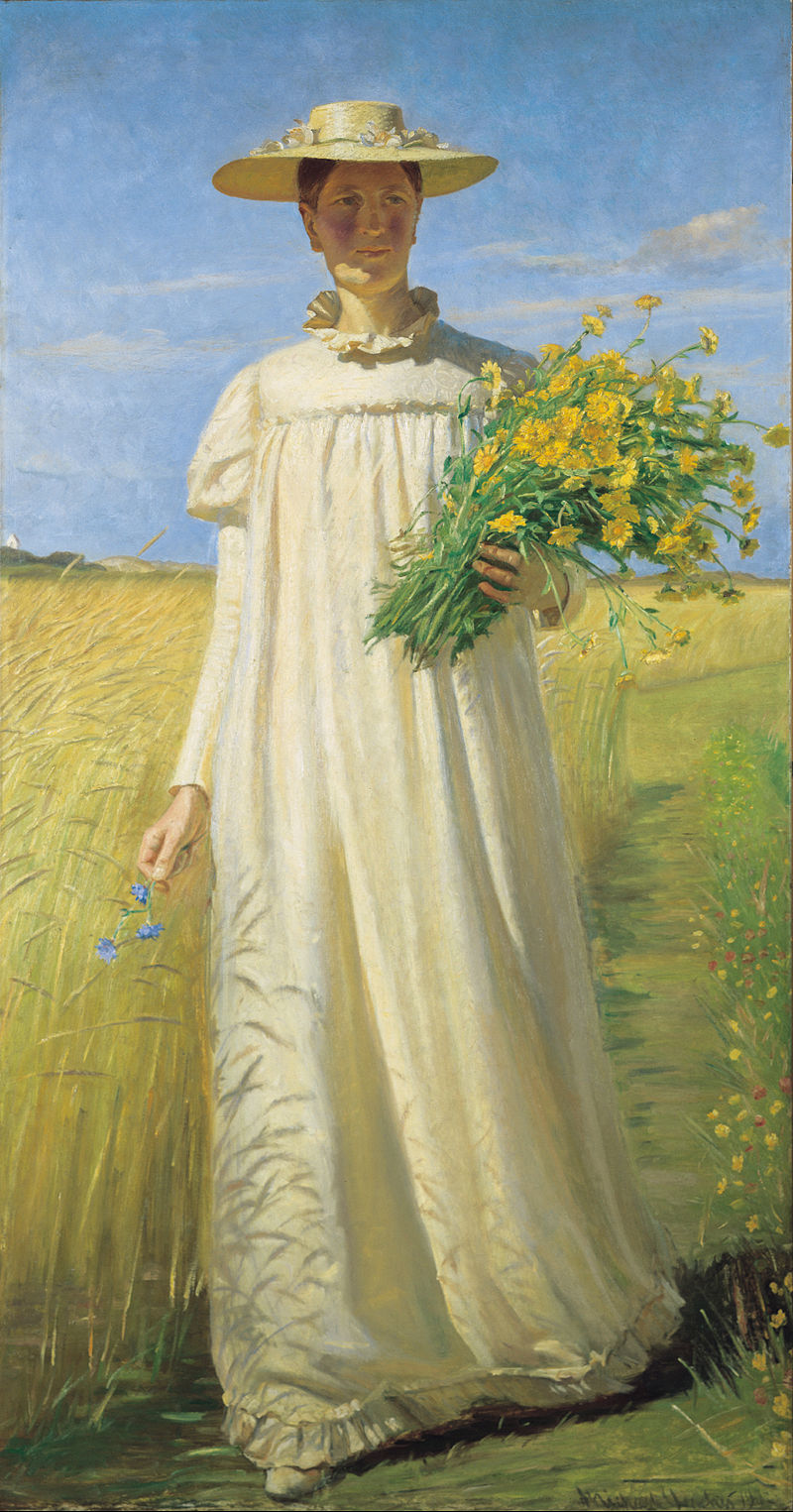 Anna Ancher returning from the field by Michael Ancher, 1901