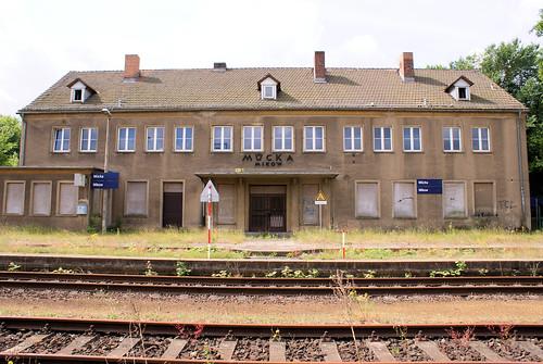Empfangsgebäude Mücka Juni 2014