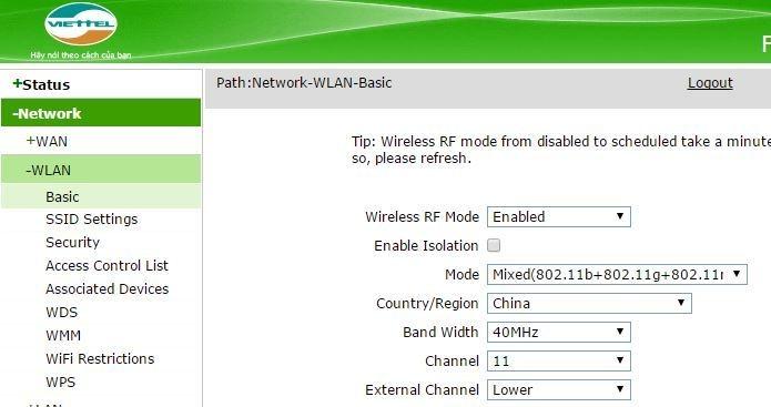Hướng dẫn giới hạn khoảng cách phát wifi của modem - Cách giới hạn khoảng cách phát wifi