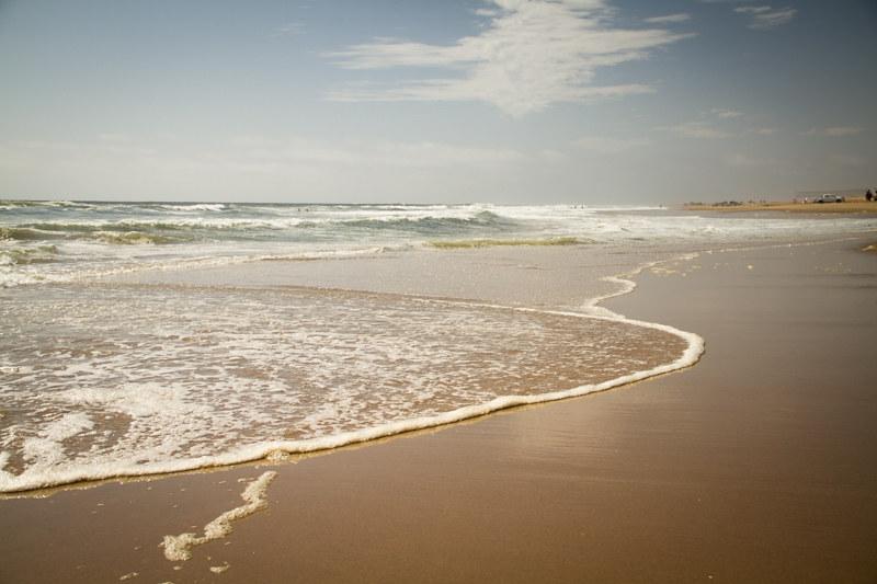 Badestrand Strandtag in Swakopmund Namibia Urlaub