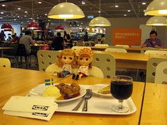 I is for Ikea. We sometimes have lunch at Ikea with a Blythe friend.