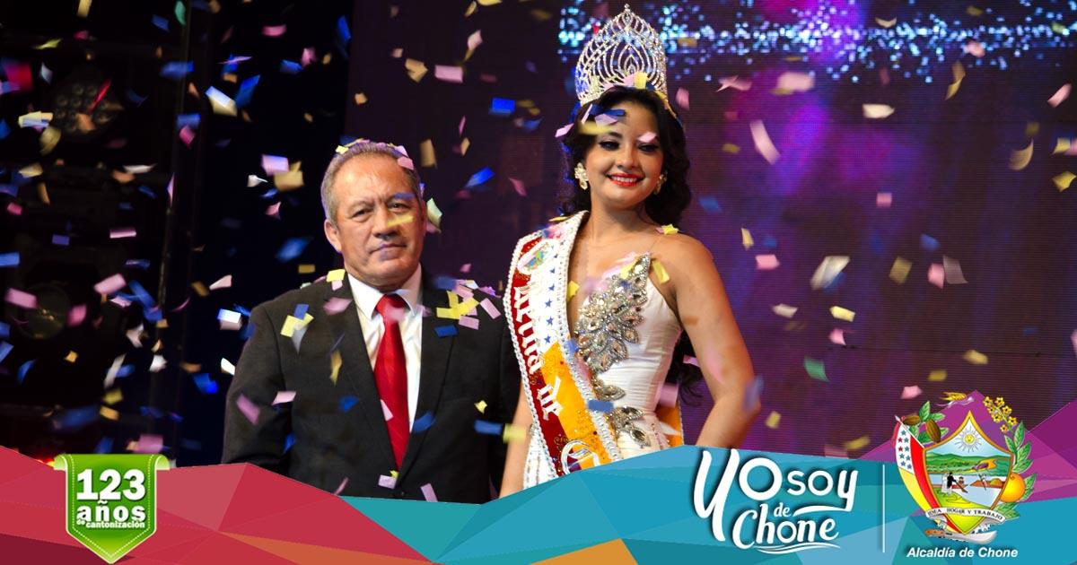 Ericka López es la Reina de Chone 2017