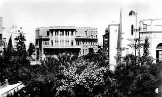 "4 Nov 1940 -  No. 6 - ""TOWN HALL & BIALIKS HOUSE"", Tel Aviv, Palestine (now Israel) - real photo card - circa 1937"