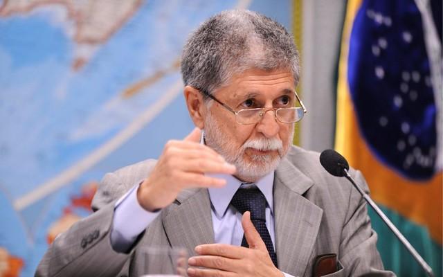 """O ex-ministro das Relações Exteriores destacou o """"assédio"""" à soberania nacional promovido pelo governo Temer - Créditos: Reprodução"""