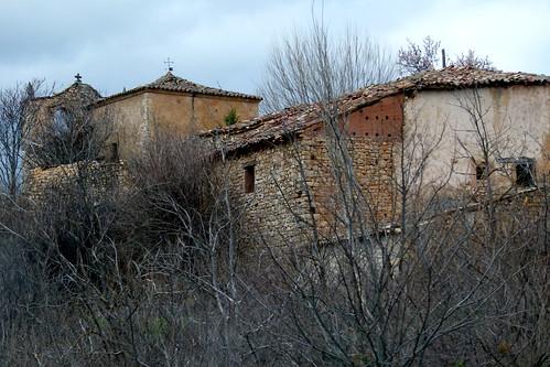 BUJALCAYADO (Sigüenza). Guadalajara. Spain. 2015. Sierra Norte. 6 habitantes (INE 2015). Iglesia de Santa Quiteria (en ruinas).