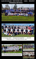 Equipe Rugby à XIII 2016/2017