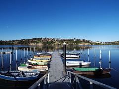 Boats on the Hopkins River Warrnambool (c) Jinny Fawcett