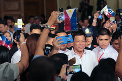 President Duterte Arrives in Myanmar and Meets with the Filipino Community