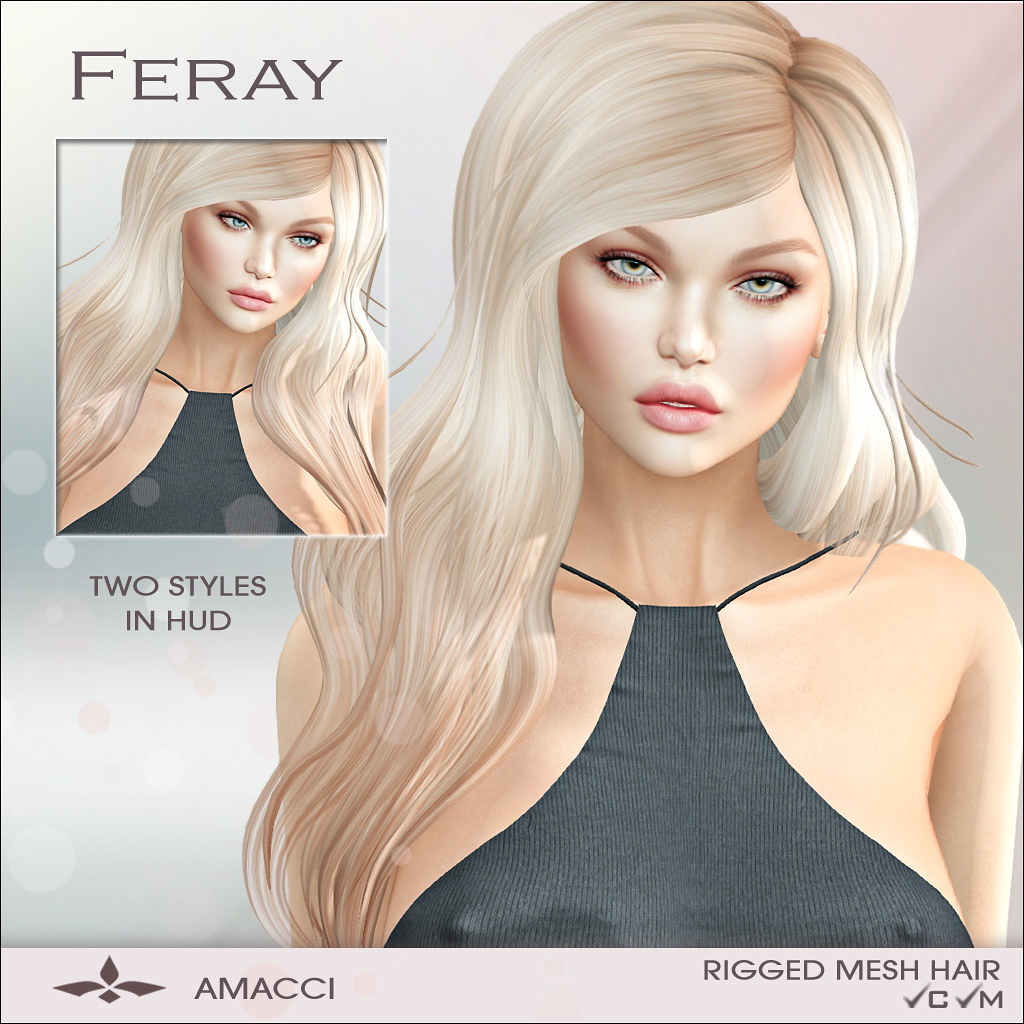 Amacci Hair - Feray - SecondLifeHub.com