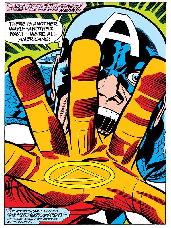 Capt America hand symbol illuminati