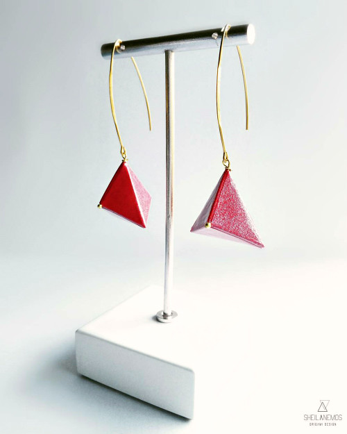 origami Paper Earrings by SheilAnemoS Origami Design