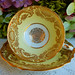 Vintage Paragon Bone China Porcelain Cup & Saucer ~ Yellow ~ Gold