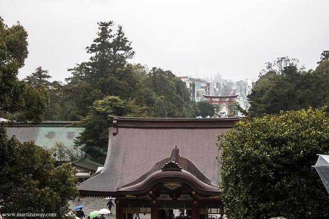Vista dal santuario Tsurugaoka Hachiman