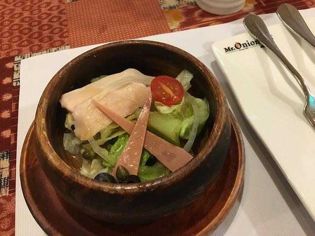 套餐的沙拉@永和Mr. Onion天蔥牛排餐廳雙和店