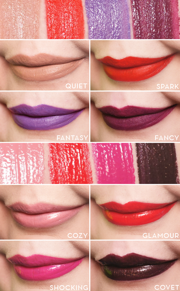 mark pout velvet & vinyl lip swatches
