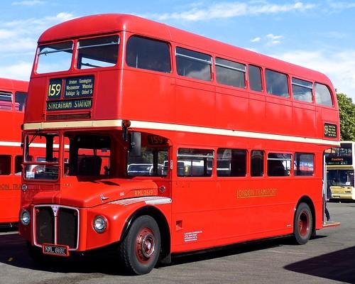 NML 619E 'London Transport' No. RML No. 2619 AEC Routemaster on 'Dennis Basfords railsroadsrunways.blogspot.co.uk'