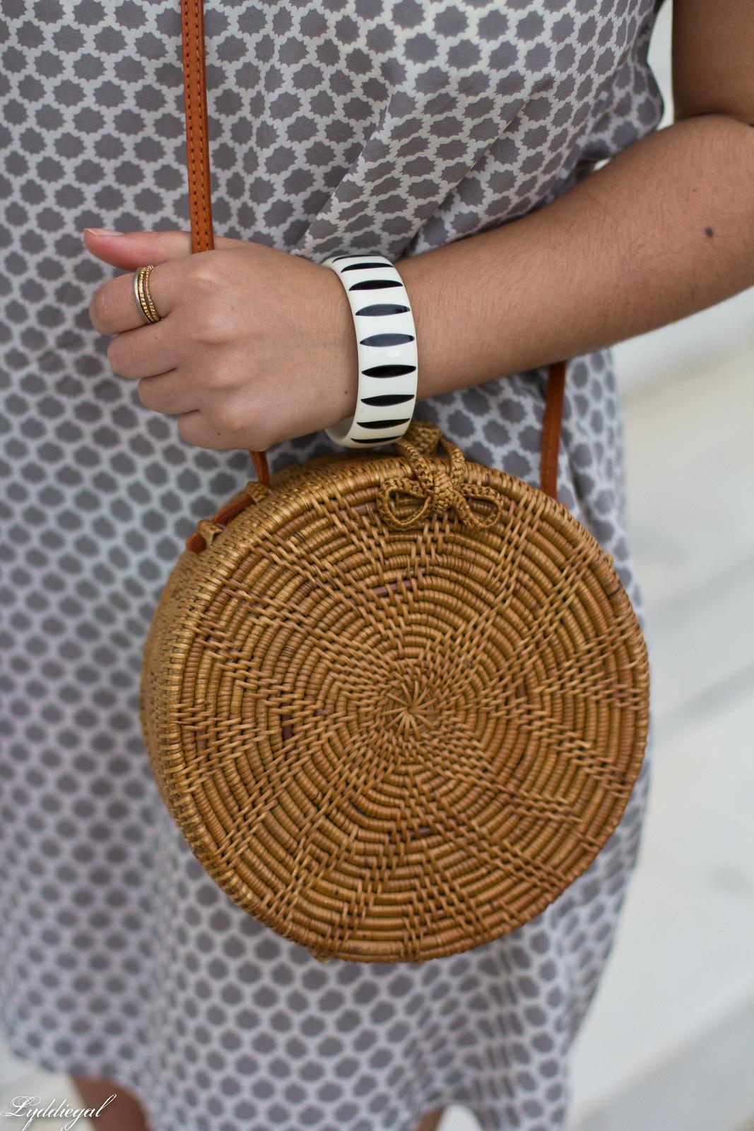 joie cloudburst dress, round straw bag, statement earrings-4.jpg