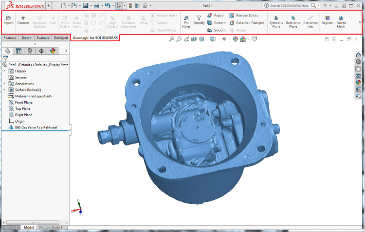 Redesign with Geomagic for SolidWorks 2017 full