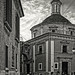 Rear of Valencia Cathedral (Monochrome - Tinted) (Olympus OM-D EM1-II & M.Zuiko 17mm f2.8 Pancake Prime)