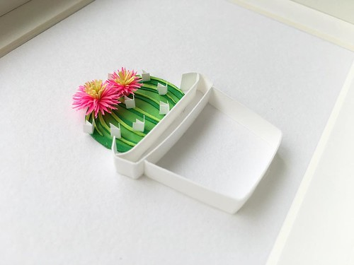 Quilled and Paper Cut Cactus by Akiko Makihara