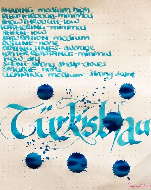 Ink Shot Review Abraxas Turkisblau of Switzerland @laywines 5