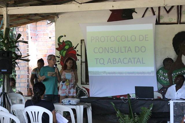 O protocolo de consulta da comunidade quilombola será um instrumento de luta para os moradores do Abacatal - Créditos: Lilian Campelo
