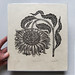 """BOWING FLOWER"" Woodcut Print by Valerie Lueth 