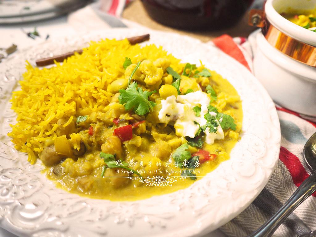 孤身廚房-Staub媽咪鍋煮超滿的印度蔬食花椰菜咖哩56