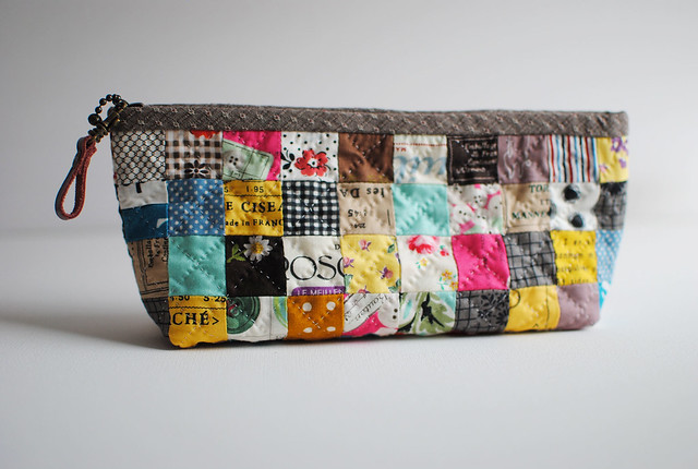 Penny Square Patchwork Pouch