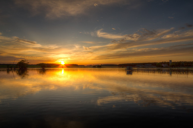 Sunset on the Mere, Canon EOS 7D, Canon EF-S 10-22mm f/3.5-4.5 USM