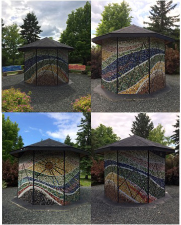 The 4 sides of Dryden Mosaic