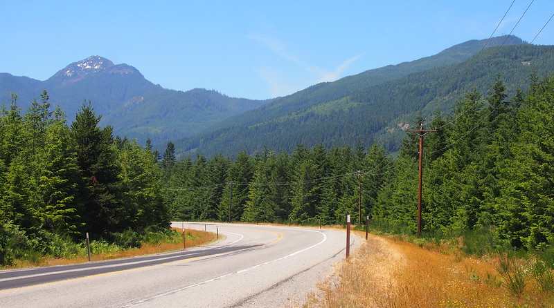 SR-530: I ended up taking the highway back down from Darrington because of the rough shape of the Whitehorse Trail.
