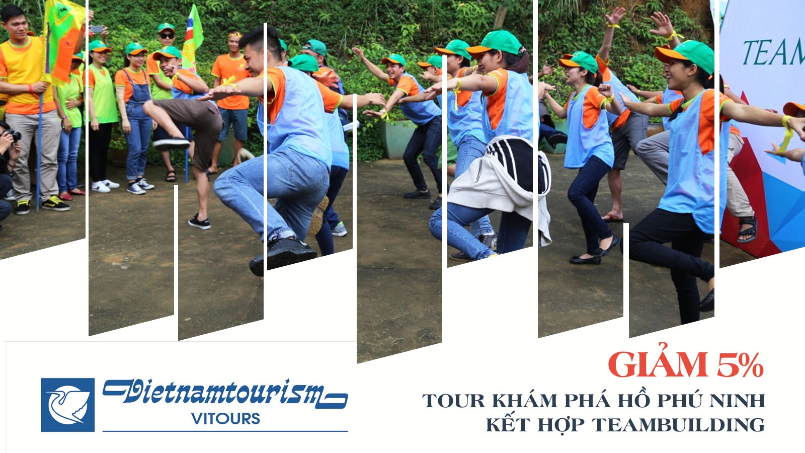 Vitours | Giảm 5% Tour tham quan Hồ Phú Ninh kết hợp team building 1