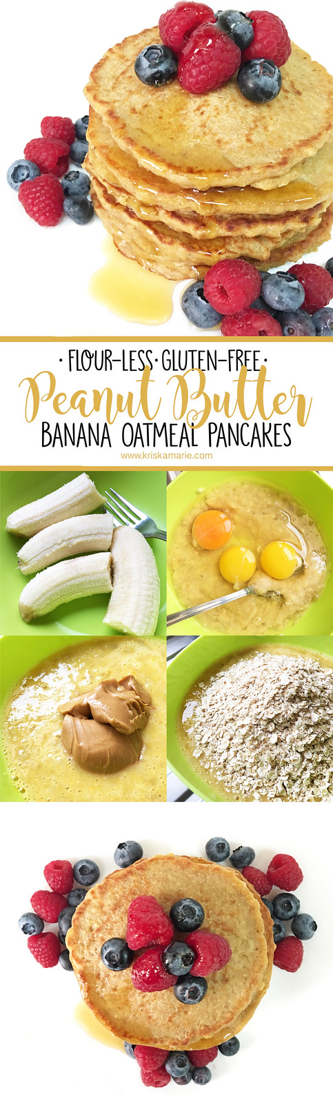 Peanut Butter Banana Oatmeal Pancakes