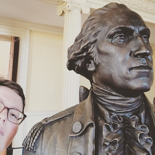 Also today. Dude wouldn't even look at me. Rude. #annapolis #latergram #marylandstatehouse #georgewashington
