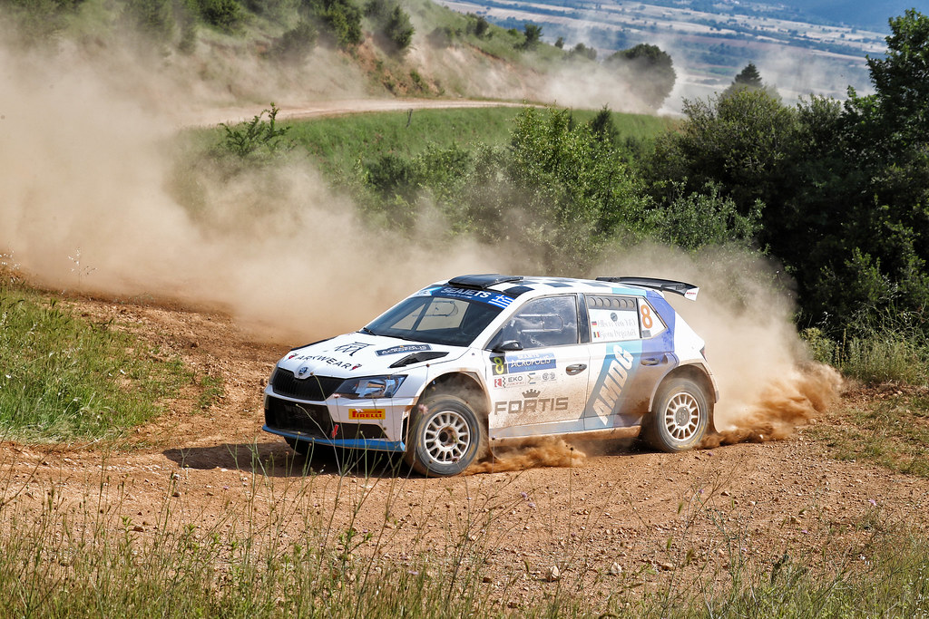 08 VON THURN UND TAXIS Albert (deu) and DEGANDT Bjorn (bel) action during the European Rally Championship 2017 - Acropolis Rally Of Grece - Loutraki From June 2 to 4 in Loutraki - Photo Gregory Lenormand / DPPI