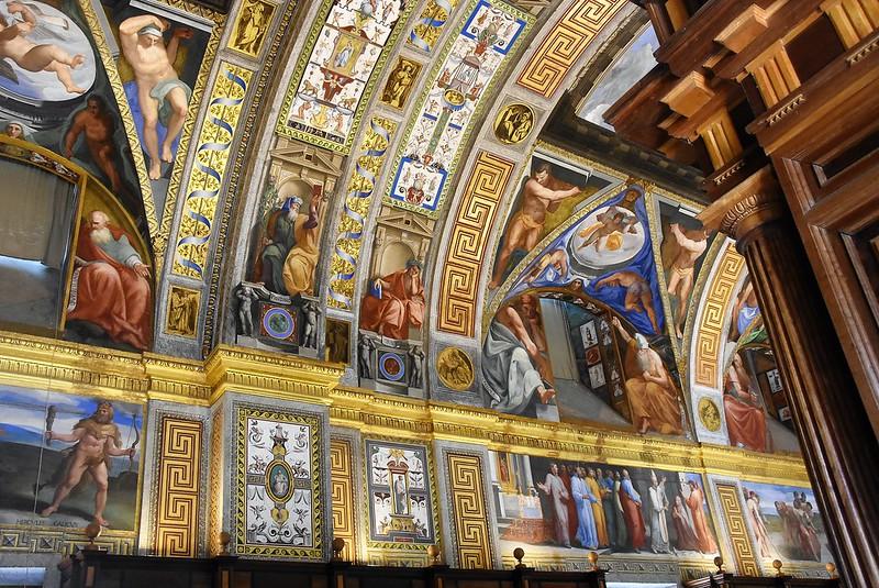 la biblioteca en el monasterio de san lorenzo