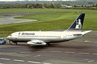 G-BHWF Boeing 737-200 Britannia Newcastle 01-06-1991