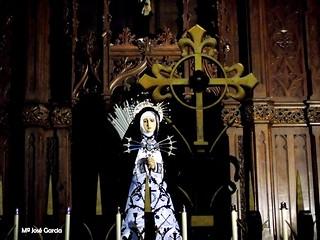 Siete Dolores... #BuenasTardes ???  María Santísima de los Siete Dolores, Faustino Sanz Herranz (1940), Congregación De Los Siete Dolores #MadridCofrade