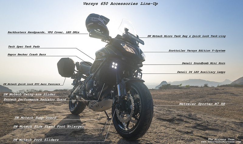 Versys accessories line up - Click to Enlarge.