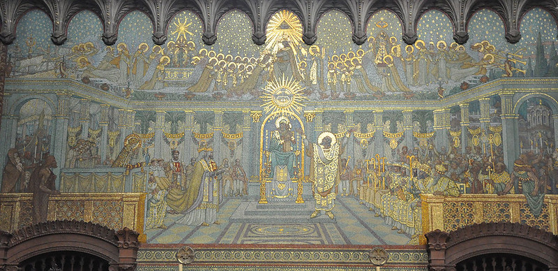 First Council of Ephesus depicted in the Basilica of Fourvière, Lyon