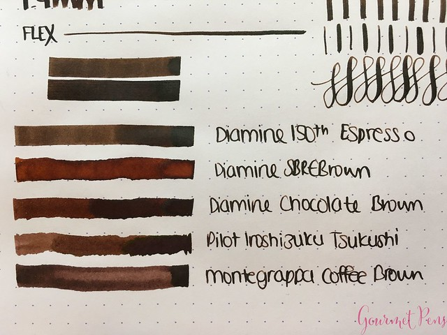 Ink Shot Review Diamine Anniversary Espresso @AppelboomLaren 4